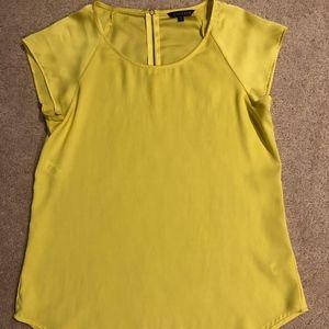 Express Short Sleeve Yellow Work Blouse